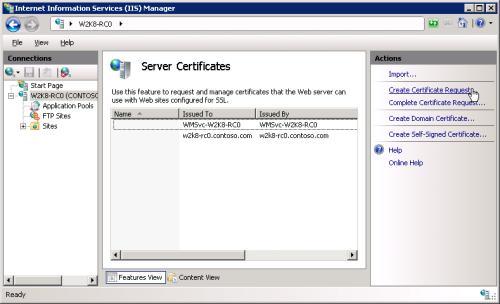 ایجاد CSR: ورود به بخش Server Certificates