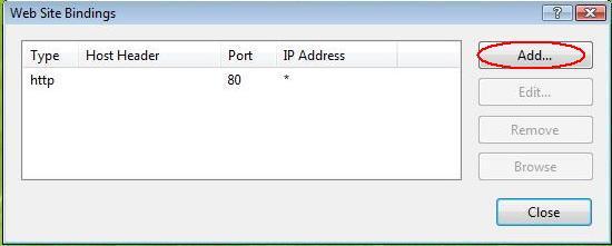 اضافه کردن بایندینگ HTTPS